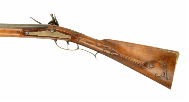 Jim Kibler Rifle in the style of George Shroyer Revolutionary War period