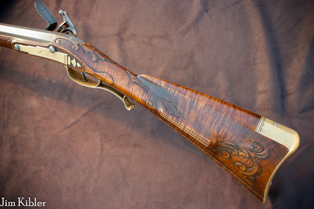Jim Kibler muzzleloader rifle curly maple