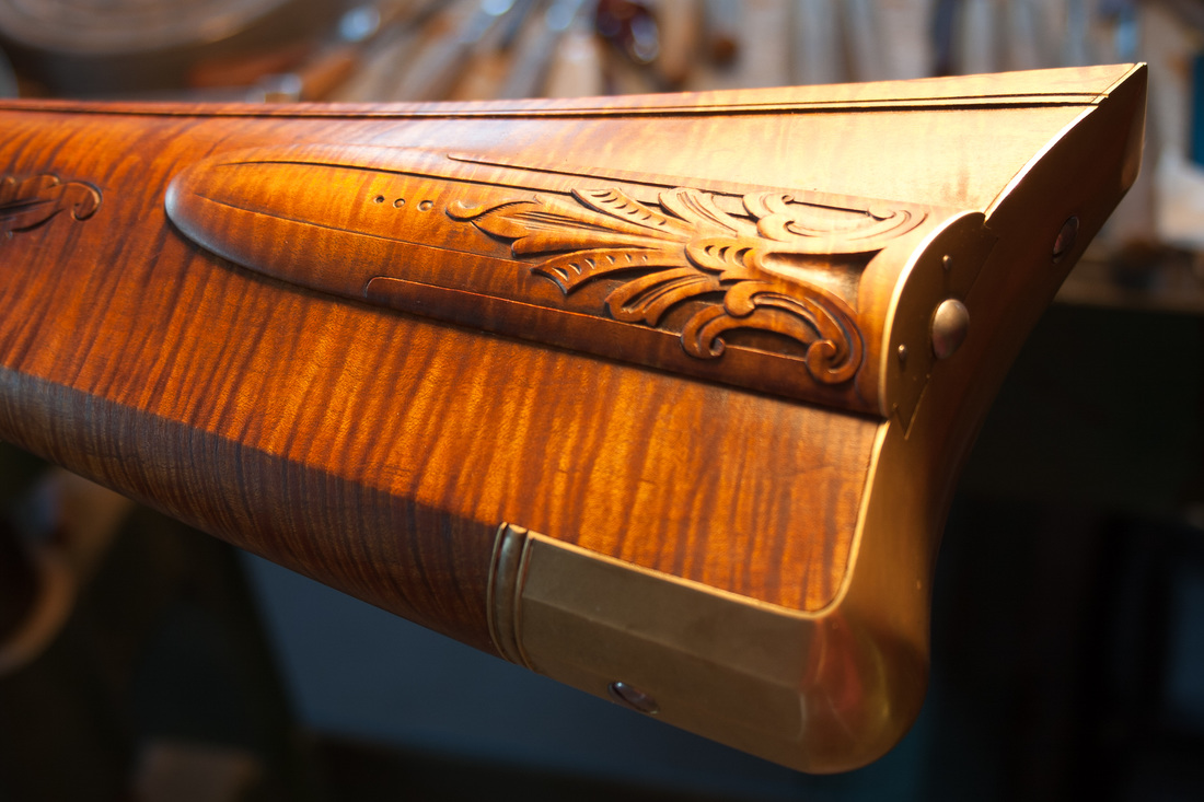 Jim Kibler Rifle Box Lid Layered Carving