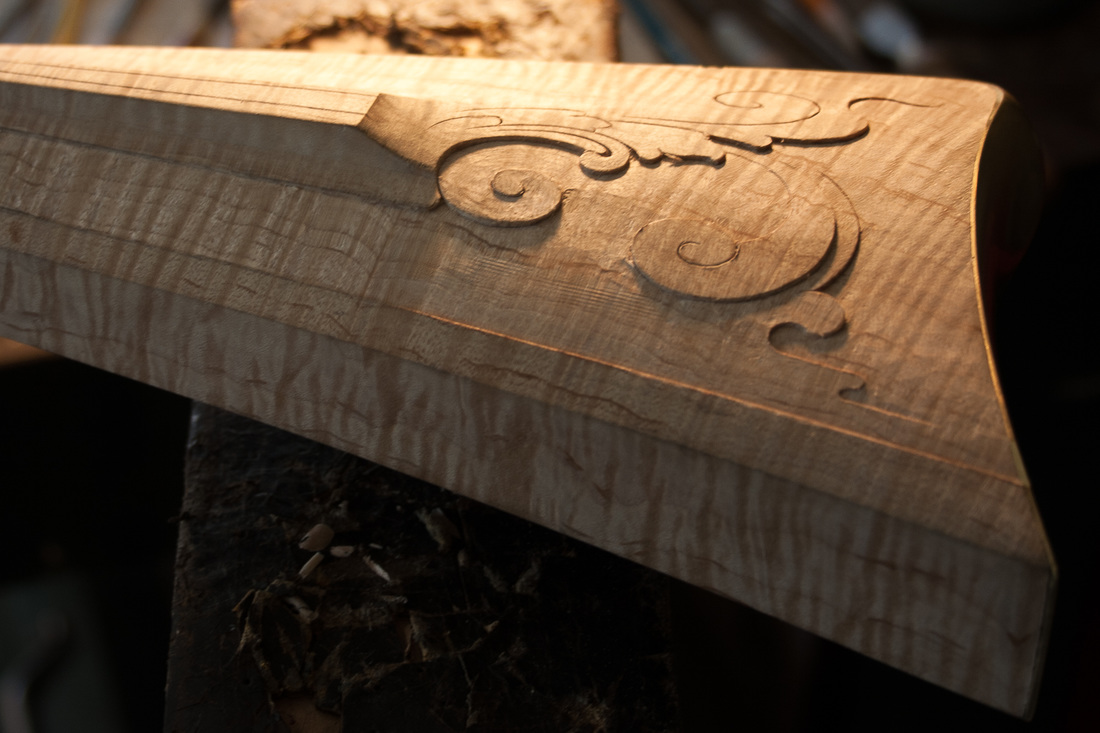 Jim Kibler Rifle Cheek Piece Butt Stock Carving