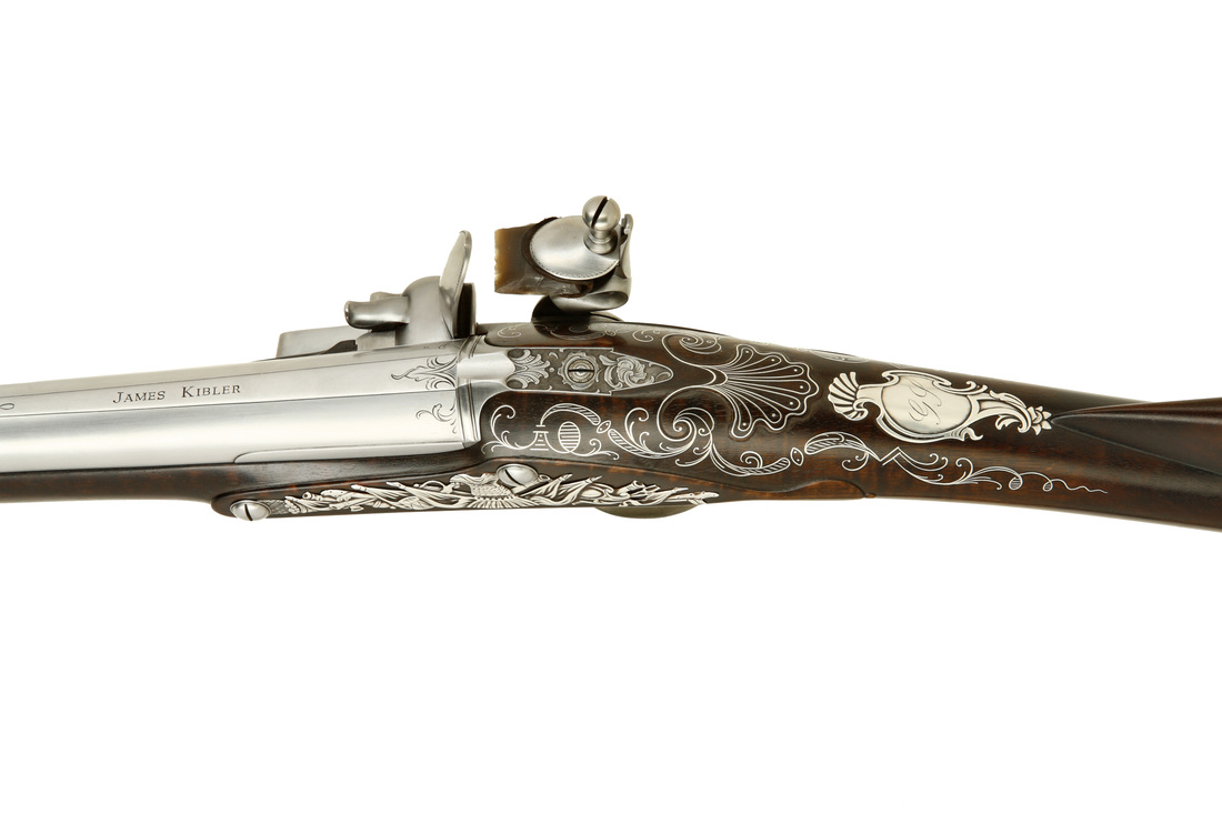 Jim Kibler English Fowling Piece with Silver in style of John Harman London 18th century